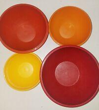 Vintage Set of 4 Tupperware Wonderlier Bowls #234-237, No Lids