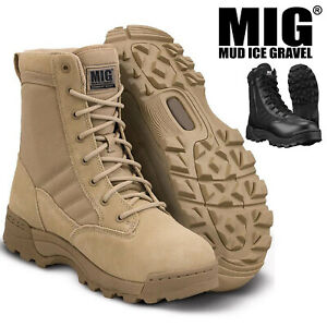 Mens American Army Combat Military Swat Boots - WORK POLICE HIKING CASUAL CADET