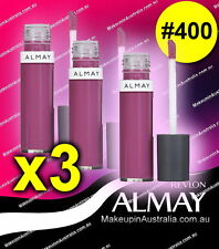 Almay Revlon Color Care Liquid Lip Balm 400 Lilac Love (lot of 3)