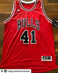 Signed/Autographed NBA Chicago Bulls Cameron Bairstow basketball jersey