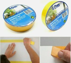40M Professional Quality Masking Tape 25MM Strong Adhesive Painters Easy Removab