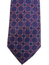 Authentic Hermes Mens Silk Tie