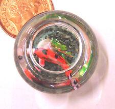 1:12 scala pesce in un bicchiere ciotola DOLLS HOUSE miniatura Accessorio Acquario g39m