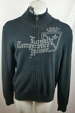 EXPRESS Men's Black Full Zip Up Pullover Sweater Size Large NWT