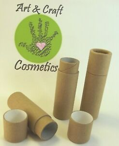 Lip Balm Brown Cardboard Push-up Tubes 100 % Recyclable Compostable Eco-Friendly