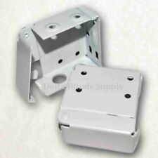 High Profile Box Mounting Brackets for Window Blinds, Alabaster