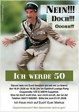 Einladungskarten 50 Geburtstag Lustig günstig kaufen | eBay