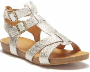 Kork-Ease US 7 EUR 38 Doughty Double Ankle Strap Leather Sandal Lt Gold NIB $125