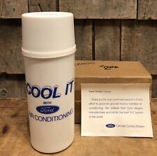 RARE Vintage FORD Motors Air Conditioning Dealer Advertising Thermos Cooler NOS