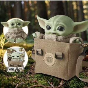 Star Wars The Child Plush Premium Bundle Talking Baby Yoda Mandalorian Bag NEW
