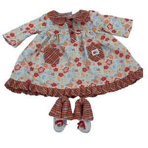 American Girl Bitty Twins Crazy Daisy Girl Nightie Set with Slippers Retired 07