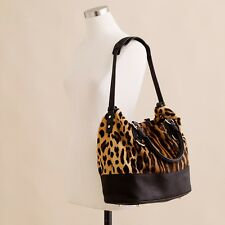 JCrew Collection Calf Hair Leopard Marlowe Beaux Arts Bag, New