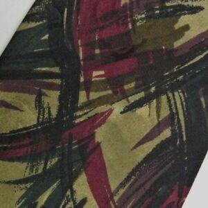 Gold Green Purple Abstract MISSONI  Silk Tie