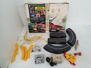 1965 Aurora Table Top Racing Set HO Scale (Missing Slot Cars) IOB