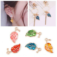 10PC Enamel Alloy Leaf Leaves Charms Pendants Craft DIY Jewelry Making Decor