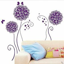 Purple Dandelion Flower Removable Wall Sticker Mural Art Decal Room Decor DIY  I