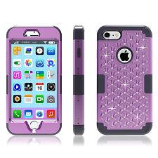 Hybrid Heavy Duty Shockproof Diamond Studded Bling Case For iPhone 7 7 Plus