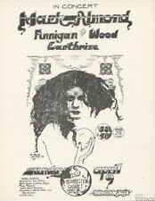 Resurrection Cabaret Handbill 1972 Apr 9 Mark Almond Finnigan and Wood
