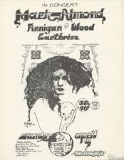 Mark Almond Finnigan and Wood 1972 Apr 9 Resurrection Cabaret Handbill