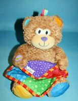 """Lamaze Peek A Boo Bear 13"""" Blanket Musical Laughing Giggles Plush Soft Toy Lovey"""
