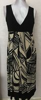 BNWT Phase Eight /8 Black And Cream Bronx Print Dress Size 12