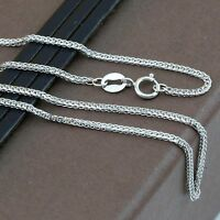 Genuine 18CT Solid White Gold Foxtail Chain 45cm Italy Made
