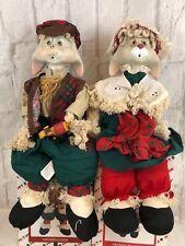 House Of Lloyd Vintage Grandpa Lloyd Granny Flo Bunny Shelf Sitters Dolls