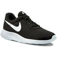 NIKE Tanjun Women's Running Shoes Black+White Athletic Sneakers 812655 New