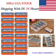 16pcs Gillette Fusion Proglide Razor Blade Refills - 5 Cartridges BULK FAST USA
