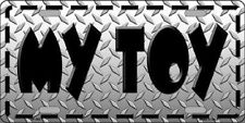 My Toy Metal Novelty License Plate For Cars