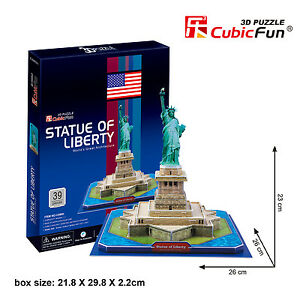New Statue Of Liberty New York USA 3D Model Jigsaw Puzzle 39 Pieces C080H
