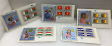 United Nations FDC Lot Of Five Colorano Silk Flag Series Block Of Four