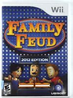 Family Feud -- 2012 Edition (Nintendo Wii, 2011) Complete in Plastic Case H- 52