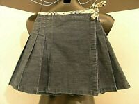 "BURBERRY little girl Jeans ""stone washed Skirt Wallet"" nova check strap years 6"