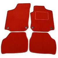 FORD FIESTA 2002-2008 MK6 - FULLY TAILORED RED CAR FLOOR CARPET MATS