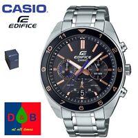 *BNIB* Casio Edifice EFV-590D-1AVUEF Men's Chronograph Silver Bracelet Watch