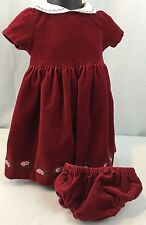 Gymboree Holiday Fancy Velveteen Christmas Dress Size 6-12 Months $52 Xmas