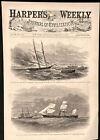 Destruction Schooner The Pirate Sumter 1862 Civil War historical print