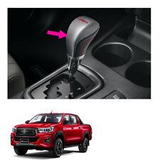Leather Gear Knob Automatic TRD Silver Black Fits Toyota Hilux Revo 2015 2019