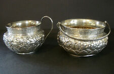 Whiting Division ~ Sterling Silver ~ Aesthetic Period ~ Creamer / Sugar Set