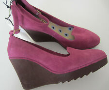 "Paul Smith Women's ""DUSKY PINK"" Suede Leather Wedges Size UK4 EU37"