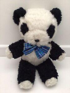 """CUTE VINTAGE 1970s DEANS GWENTOY PANDA BEAR TEDDY BEAR ORIGINAL LABEL - 20"""""""