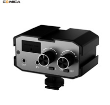 CoMica 3.5mm Dual-Groups Microphone Amplifier Audio Mixer For Camera Camcorder