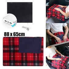 5v USB Electric Heated Car Van Truck Fleece Cosy Warm Winter Blanket Heat Cover