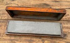 Vintage Sharpening Stone w/ Wooden Box - Knife Tool Sharpener