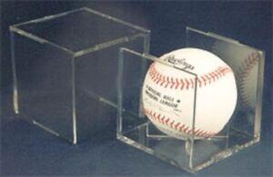 Lot of 12 Pro-Mold Baseball Square Holders PCBALLSQIII w/ Stand cubes displays