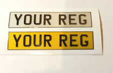 1/10 scale Reflective Numberplate decals x 1pair (Custom made) self adhesive