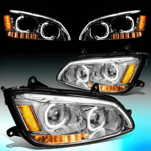 FOR 2008-2019 KENWORTH T170 T370 T660 LED DRL+SIGNAL DUAL PROJECTOR HEADLIGHT