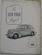 Ford Ten Prefect 1938 Original UK Advertising Supplement from the Ford Times