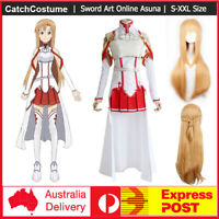 Sword Art Online SAO Yuki Asuna Cosplay Costume Unisex Full Outfits Uniform Set